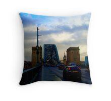 Tyne Bridge Traffic Throw Pillow
