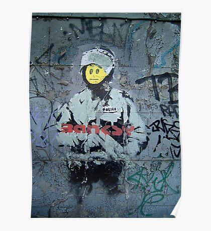 """Banksy ''Smiley Cop"""" Poster"""