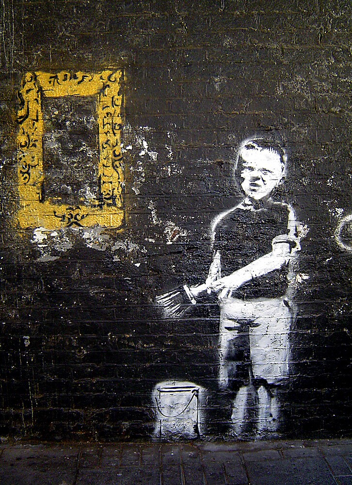 """Banksy """"Boy and Paint Brush"""" by Chris Steele"""
