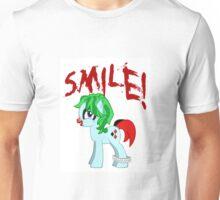 SMILE! My Little Joker Harley Quinn Pony: Friendship is Tragic Unisex T-Shirt