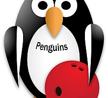Penguin with bowling bow by igorsin