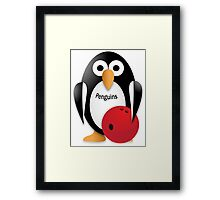 Penguin with bowling bow Framed Print