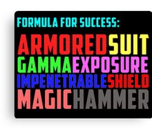 Avengers Formula for Success Canvas Print