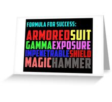 Avengers Formula for Success Greeting Card
