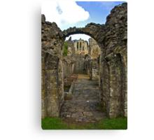 Through The Passageway - Rievaulx Abbey Canvas Print