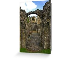 Through The Passageway - Rievaulx Abbey Greeting Card