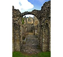 Through The Passageway - Rievaulx Abbey Photographic Print