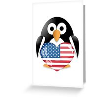 Funny penguin Greeting Card