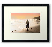 When the sun rises in the West... Framed Print