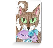Catnip Surprise Greeting Card