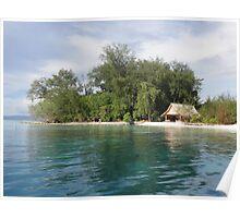 a desolate Solomon Islands landscape Poster