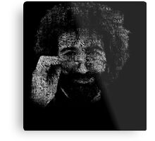"Jerry Garcia ""Dark Star"" Text Image - Grateful Dead Metal Print"