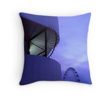 London Eye Deep Purple Throw Pillow