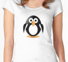 Funny penguin Women's Fitted Scoop T-Shirt