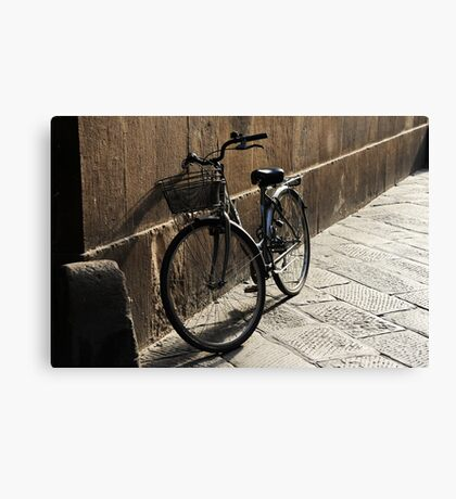 Lonely Bike Canvas Print