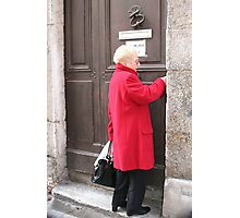 A Door in Vienne & the Lady in Red Photographic Print