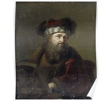 Painting - A Man in Oriental Costume (Portrait of a Rabbi), after Ary de Vois, after 1716  Poster