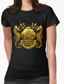 Deep Sea Diving Badge Womens Fitted T-Shirt