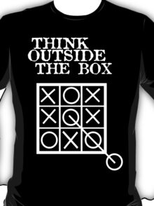 Think outside the box noughts and crosses geek funny nerd T-Shirt
