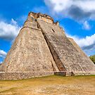 Ancient Mayan Pyramid Ruins At Uxmal In Mexico by Mark Tisdale