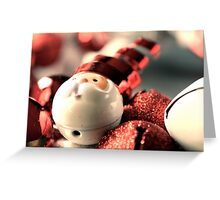 Santa's Wreath Greeting Card