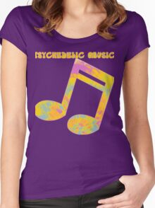 Psychedelic Rock 5 Women's Fitted Scoop T-Shirt