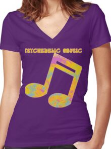 Psychedelic Rock 5 Women's Fitted V-Neck T-Shirt