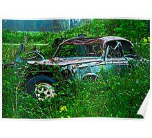 Melting Peugeot Poster