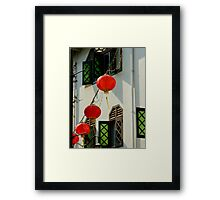 A hint of Asia Framed Print