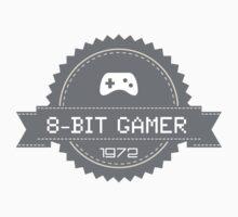 8-Bit Gamer 1972 Badge Kids Clothes
