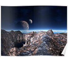 Moon View Ridge Poster