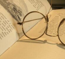 Once upon a time... (Old Book & Glasses) Free State, South Africa Sticker