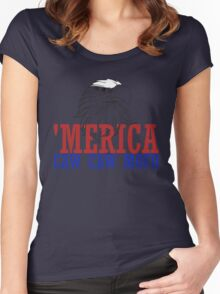 CAW CAW mofo 4th of july Women's Fitted Scoop T-Shirt