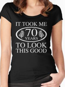 Funny 70th Birthday Women's Fitted Scoop T-Shirt