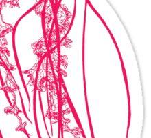 Hot Pink Jellyfish Sticker