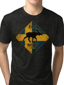 Swedish elk Tri-blend T-Shirt