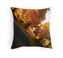 Golden Path Among the Trees   Throw Pillow