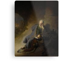 Painting - Jeremiah Lamenting the Destruction of Jerusalem, Rembrandt Harmensz. van Rijn, 1630  Metal Print