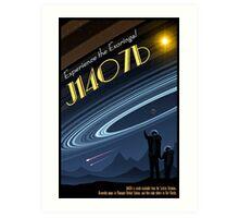 Space Travel Poster J1407b Art Print