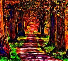 Beautiful Forest Road Fine Art Print by stockfineart