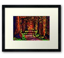 Beautiful Forest Road Fine Art Print Framed Print