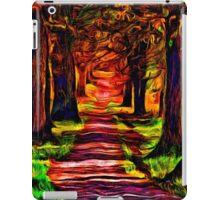 Beautiful Forest Road Fine Art Print iPad Case/Skin