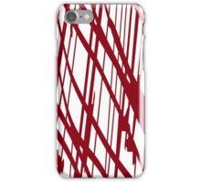 Geometric vector abstraction in maroon iPhone Case/Skin