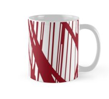 Geometric vector abstraction in maroon Mug