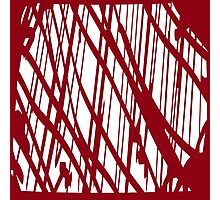 Geometric vector abstraction in maroon Photographic Print