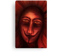 Red Untitled Canvas Print