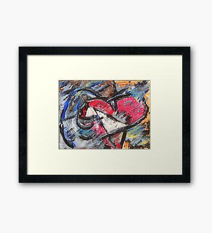 Bursting Heart - Abstract Artwork  Framed Print