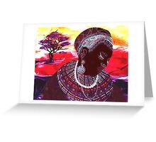 Masai Bride Greeting Card