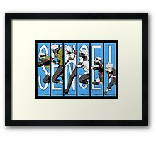 Kakashi Evolution Framed Print