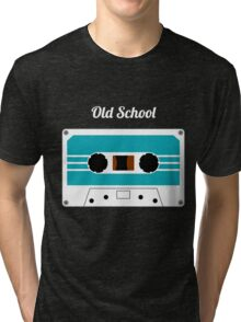 Retro Cassette Tape -  Tri-blend T-Shirt